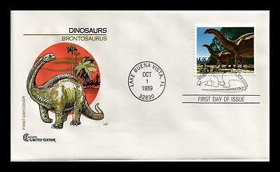 Dr Jim Stamps Us Brontosaurus Dinosaurs First Day Cover Craft Limited Edition