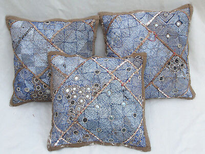 37x37cm Orient Patchwork Kissen Kissenhülle Embroidered pillow Cushion cover -D