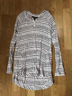 A Pea in the Pod Long Sleeve Black and White Stripe Maternity Top XS