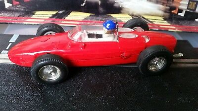 Vintage Scalextric Ferrari Shark Nose C62 Red With Chrome Wheels Tested Working