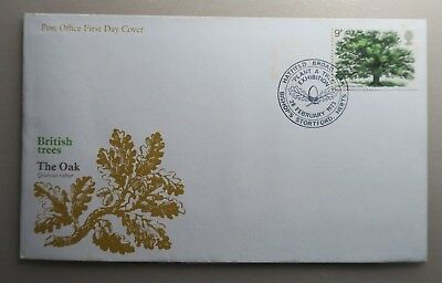 1973 Post Office Fdc - British Trees - The Oak - Plant A Tree Bishops Stortford