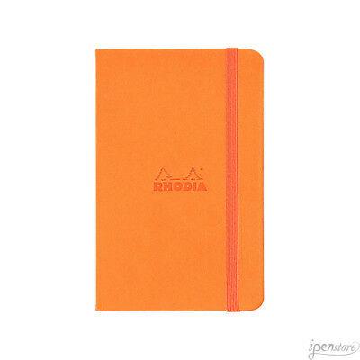Rhodia #118768 Webnotebook 5-1/2 x 8-1/4, Orange Cover, Dot Grid