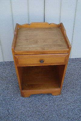 00001 Solid Maple Nightstand End Table Stand