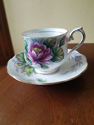 Royal Albert  Bone China Tea Cup and Saucer   Flower of the Month #7  Water Lily