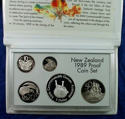 1989 New Zealand Silver/Copper Nickel Coin Proof Set