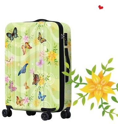 E403 Colorful Butterfly Universal Wheel Travel Suitcase Luggage 28 Inches W