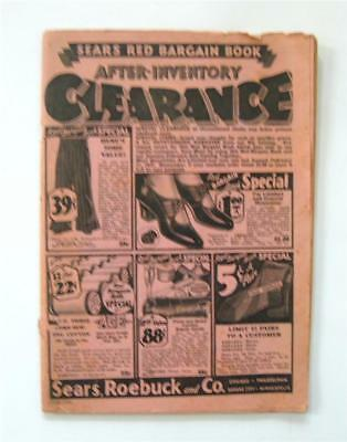 Vintage Sears Roebuck Red Bargain Book Clearance Catalog c.1932  90+pps 2 covers