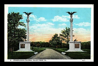 Dr Jim Stamps Us Pennsylvania Columns Valley Forge White Border View Postcard