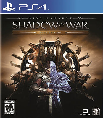 Middle Earth: Shadow Of War Gold Edition PS4 New PlayStation 4, PlayStation 4