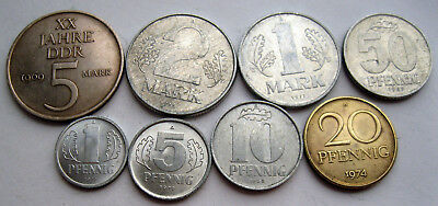 ?8 Coins East Germany Xf 3060