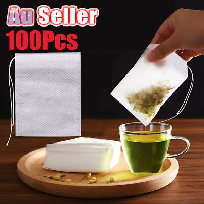 Empty Tea Bag Paper Loose Heat Sealing Filter 100pcs Non-woven Cloth Disposable