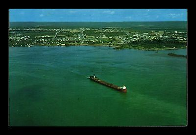 Dr Jim Stamps Us Soo Locks Sault Ste Marie Ontario Canada Chrome View Postcard
