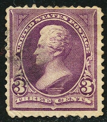 Dr Jim Stamps Us Scott 268 3C Jackson Used No Reserve Free Shipping