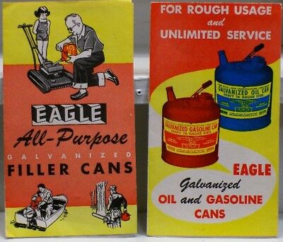 Eagle Gas and Oil Can Advertising Pamphlets