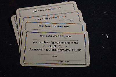 Ca 1940 National Biscuit Company Albany-Schenectady Club Member Cards (5)
