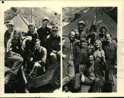 1983 Press Photo The original cast and the current cast of the TV Show MASH