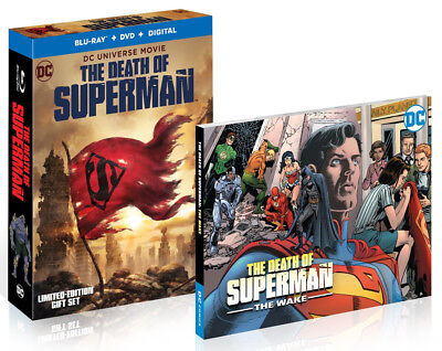 The Death of Superman (Blu-ray/DVD, 2018, Graphic Novel) NEW