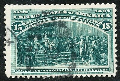 Dr Jim Stamps Us Scott 238 15C Columbian Exposition Used Thin No Reserve