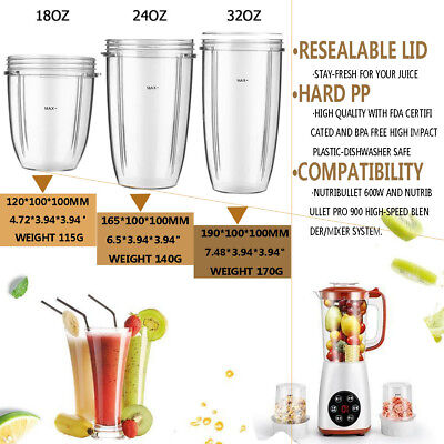 Magic Juicer Cup Universal Replacement For NutriBullet Nutri Bullet 18/24/32OZ