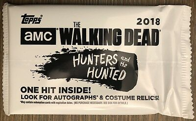 #d/50 AUTOGRAPH! Blaster Hot Pack 2018 Topps Walking Dead Hunter Hunted Auto