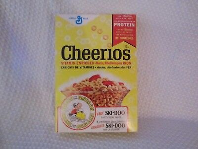 1973 Cheerios Cereal Canada-Full/Sealed Box W/ Ski-Doo Safety Decal-Snowmobile