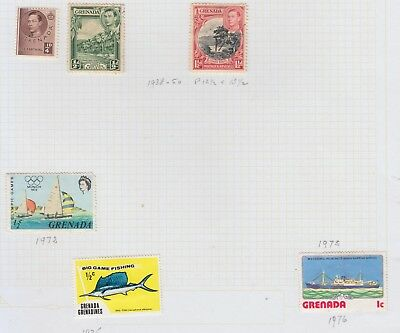 GRENADA Small Stamp Lot on Page GV1-QE11 Mint/Used