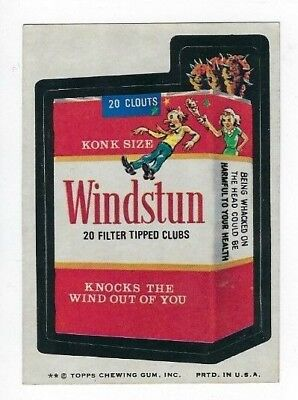 1974 Topps Wacky Packages 9th Series 9 WINDSTUN nm-