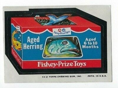 1974 Topps Wacky Packages 10th Series 10 FISHEY-PRIZE TOYS ex+