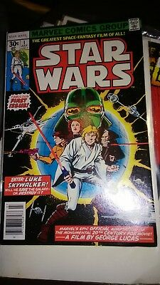 Star Wars #1 (Jul 1977 Marvel) VF/NM Newsstand Reprint with UPC