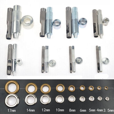Eyelet Punch Tool 3mm-17mm Die Rod for Leather Craft Clothing Grommet Parts Hot