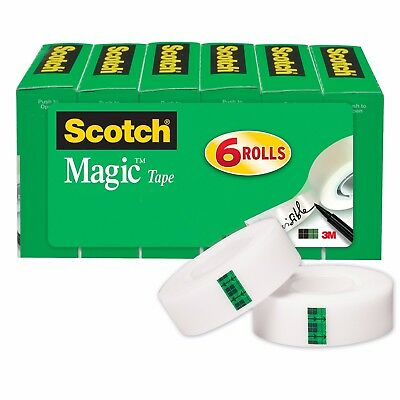 Magic Tape, Versatile, Photo-Safe, Great for Gift, 3/4 x 1000 Inches,6 Rolls