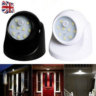 360° Battery Operated Indoor Outdoor Garden Motion Sensor Security LED Light A+