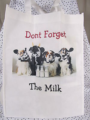 Dont Forget The Milk!  Grocery Bag Cavalier King Charles Spaniel