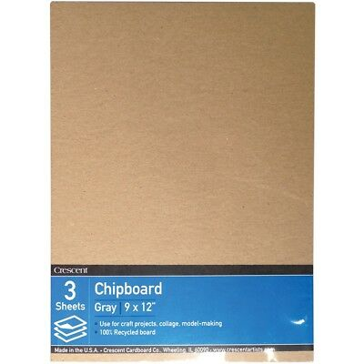 "Crescent Recycled Chipboard Value Pack 3/pkg-9""x12"""