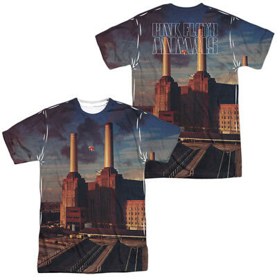 a2707325 Authentic Pink Floyd Animals Album Record Sublimation ALL Front Back T-shirt  top