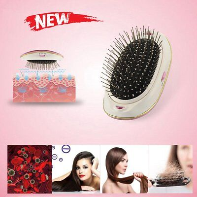Portable Electric Ionic Hairbrush Takeout Mini Dry Hair Brush Comb Massage 12X6