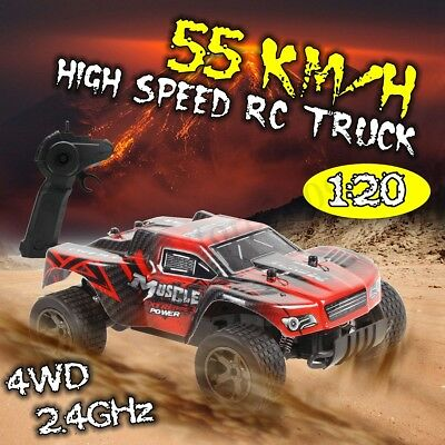 1:20 RC Rock Crawler Car 2.4G 4WD High Speed 55km/h Off-Road Remote Control Toy