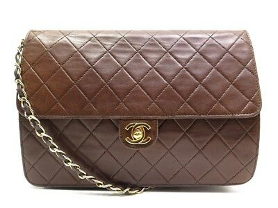 63680b38b62a Vintage Sac A Main Chanel Timeless Cuir Matelasse Marron Quilted Hand Bag  3800€