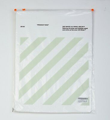 Off-White 2013 Official Product Bag, Plastic Bag From Virgil Abloh