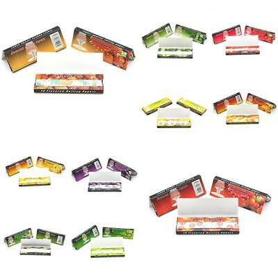 250 Leaves 5 Fruit Flavored Smoking Cigarette Tobacco Hemp Rolling Paper Sticker