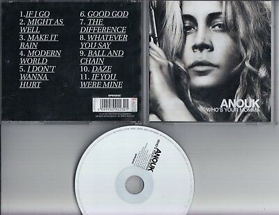 ANOUK Who's Your Momma CD EMI HOLLAND I Don't Wanna Hurt JEWEL CASE VERSION used