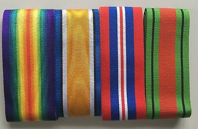 "Full Size British Military Medal Ribbons Various WW1 WW2 6"" lengths  *[MEDRIB]"