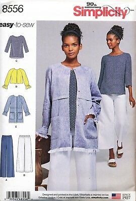 Simplicity Sewing Pattern 8556 Misses Sz 6-14 Easy-To-Sew Tunic, Jackets & Pants