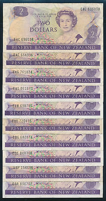 "New Zealand: 1981 $2 Hardie QEII ""COLLN 29 DIFFERENT PREFIXES"". P170a F to VF"