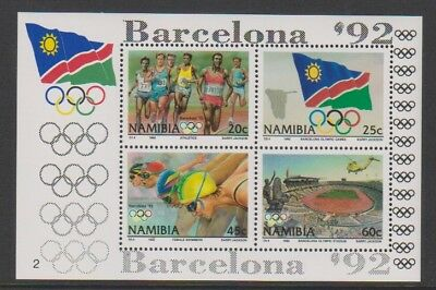 Namibia - 1992, Olympic Games, Barcelona sheet - MNH - SG MS601