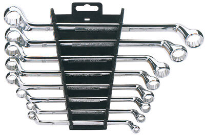 Draper Expert Deep Offset Ring Spanner Set Metric with Rack 8 Piece Hi-Torq
