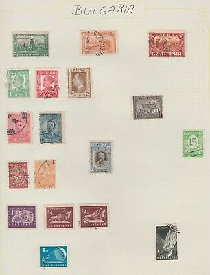 BULGARIA Collection Early Issues Tractor Parachute etc USED, as per scan #