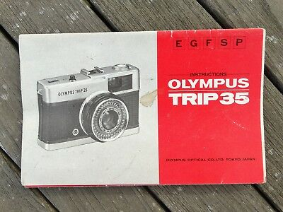 Olympus Trip 35 Instruction Manual - Original not a copy - Free UK Postage