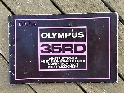 Olympus 35RD Instruction Manual - Original not a copy - Free UK Postage