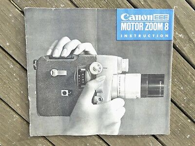 Canon Motor Zoom 8 EEE Instruction Manual- Original not a copy - Free UK Postage